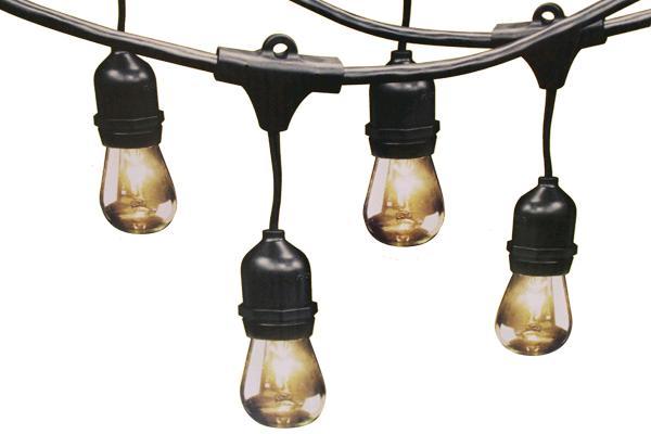 48' Vintage Black String Lights (24 Light)
