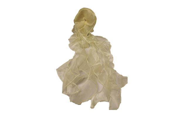 Champagne Ruffled Chair Tie
