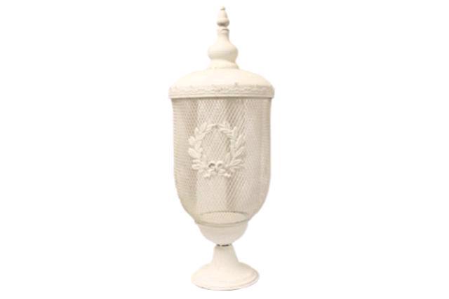 Decorative Antique White Urn
