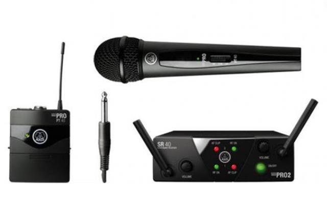 Wireless W/ Lapel Akg Microphone