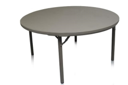 4' Round Wood Top Table