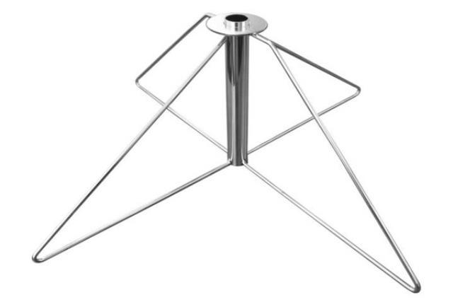 Folding Silver Flagpole Base