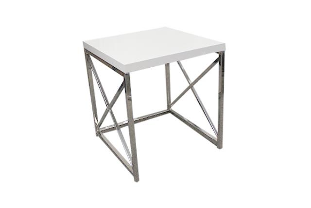 Small White Monarch Side Table
