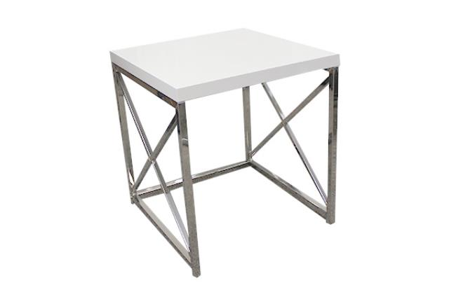 Large White Monarch Side Table
