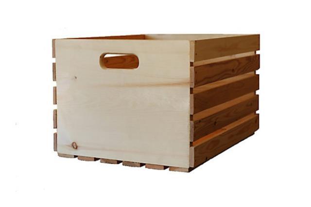 Large Natural Pine Crate