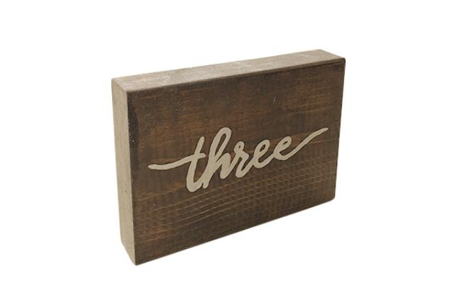 Wooden Script Table Numbers (individual)