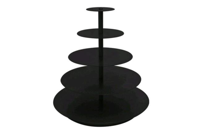 Black Round Cupcake Stand