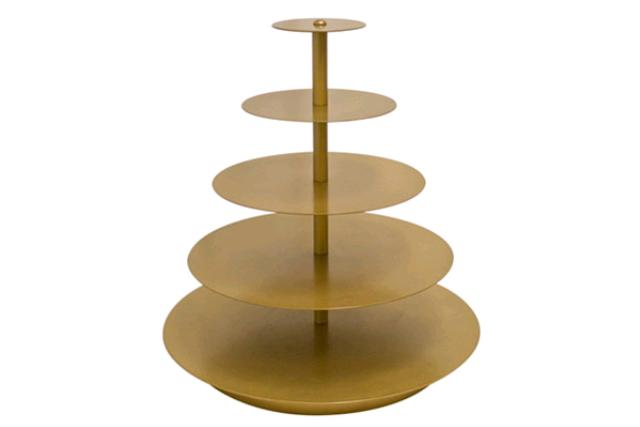 Gold, Round Cupcake Stand