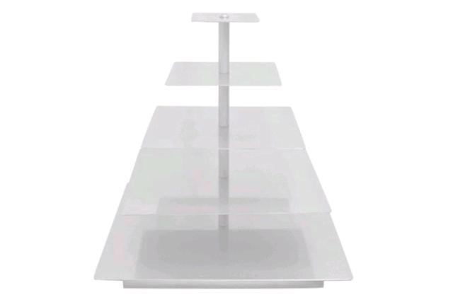 White Square Cupcake Stand