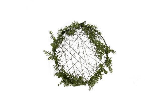 Greenery W/ Wire Hoop Small