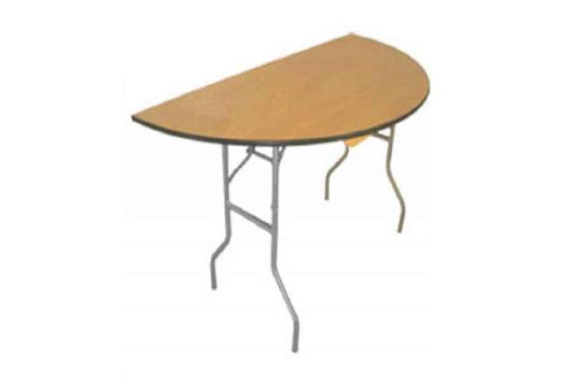 5' Half Round Birch Top Table