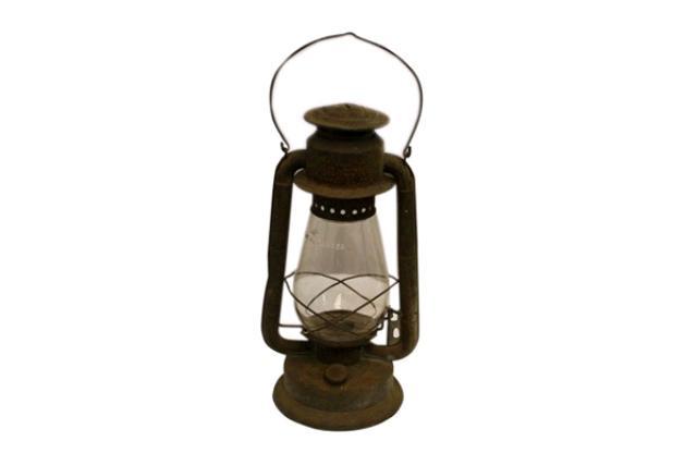 Brown Galvanized Lantern