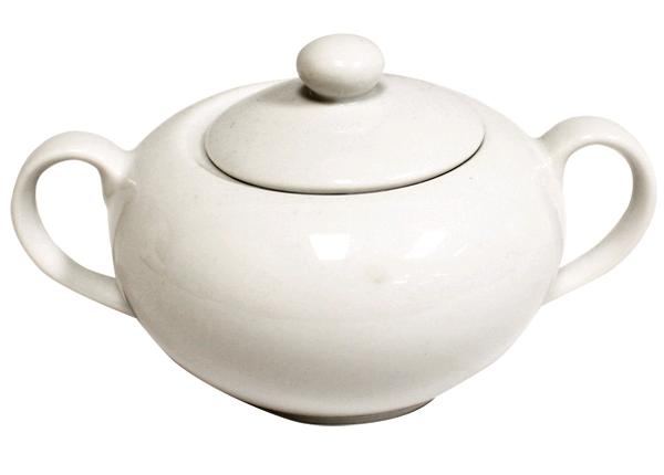 Classic White Sugar Bowl With Lid