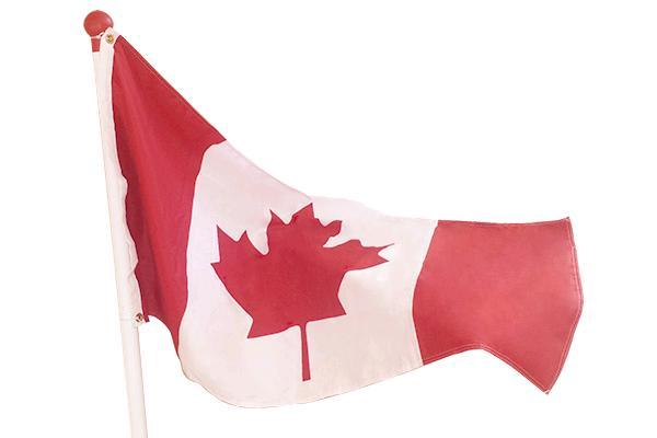 18' High Flagpole With Canada Flag