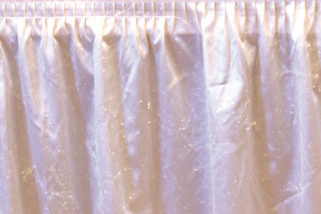 White Polyknit Tableskirt