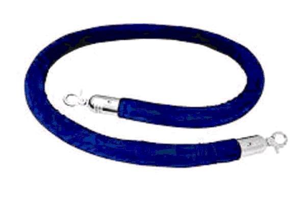 8' Blue Velvet Rope