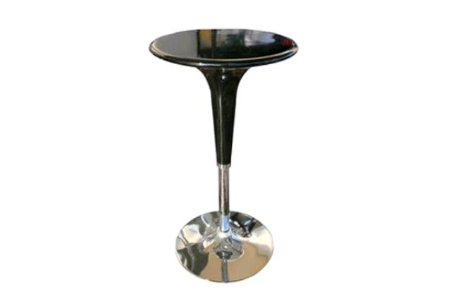 Round Black Gelato Adjustable Cocktail Table