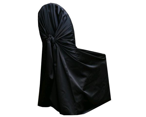 Black Satin Chair Wrap