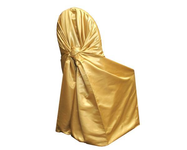 Gold Shalimar Satin Chair Wrap