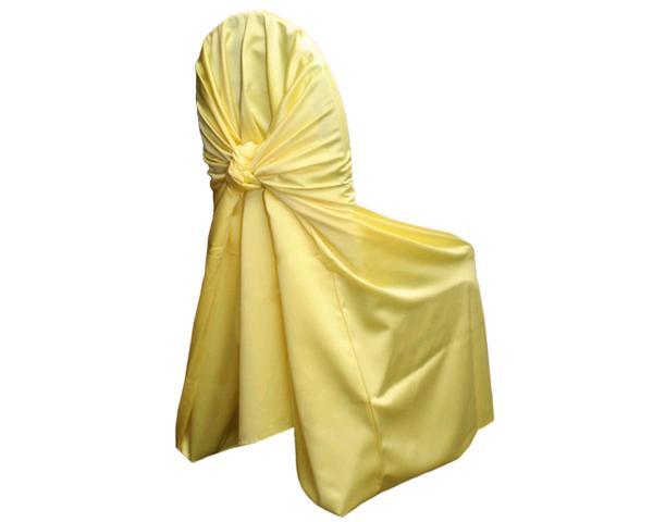 Lemon Satin Chair Wrap