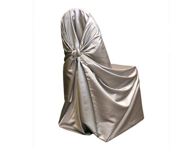 Silver Satin Chair Wrap