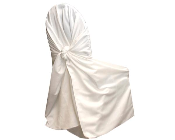 Vanilla (ivory) Satin Chair Wrap