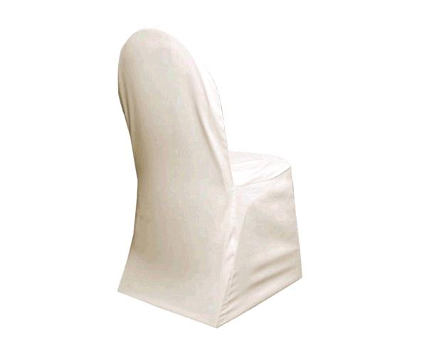 Ivory Banquet Chair Cover