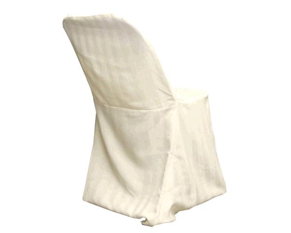 Ivory/stripe (no Band) Chair Cover