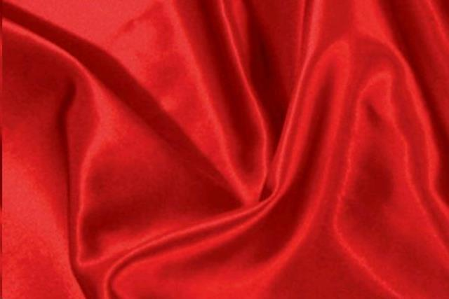 Very Red Satin Chair Tie