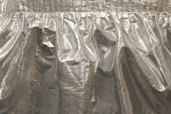 Silver Lame Tableskirt