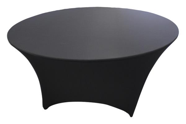 5' Round Black Spandex Cover