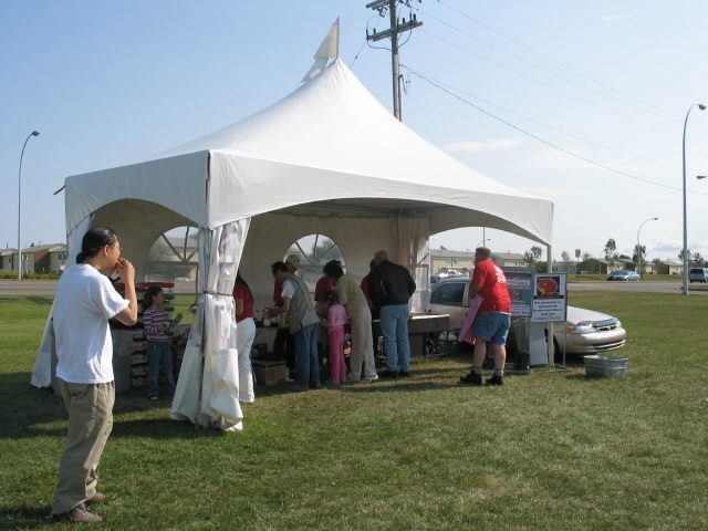 10' X 20' White Frame Tent
