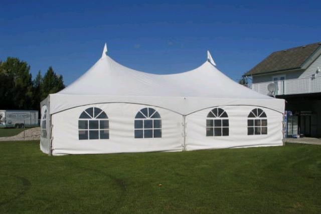 20' X 40' White Frame Tent