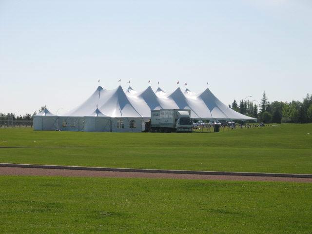 60' X 100' White Pole Tent