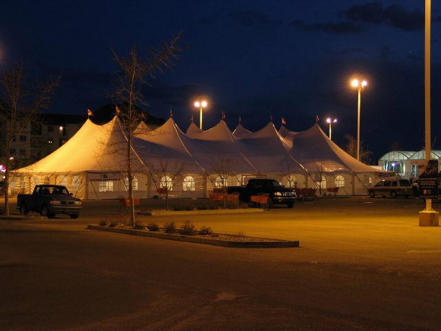 60' X 120' White Pole Tent