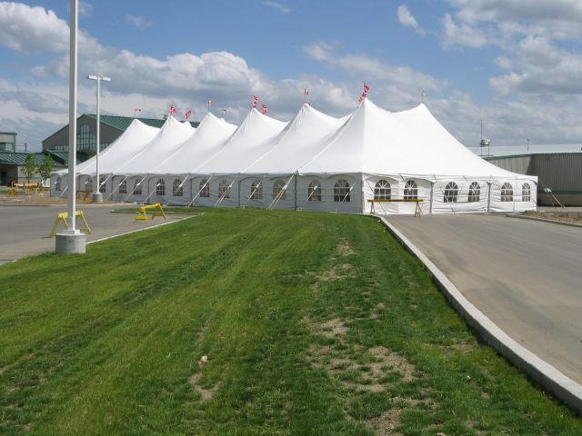 60' X 140' White Pole Tent