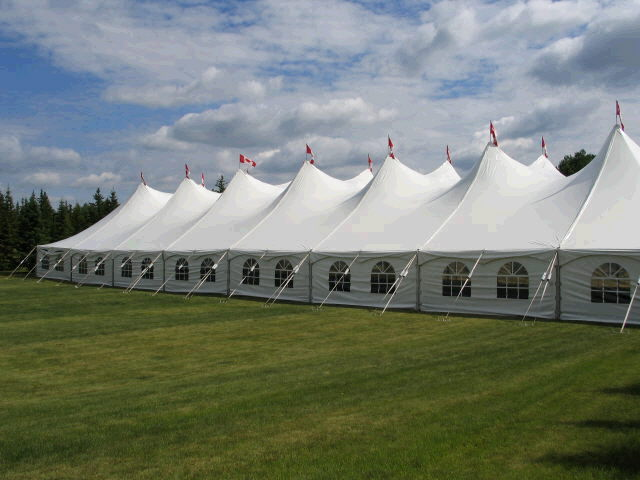 60' X 220' White Pole Tent