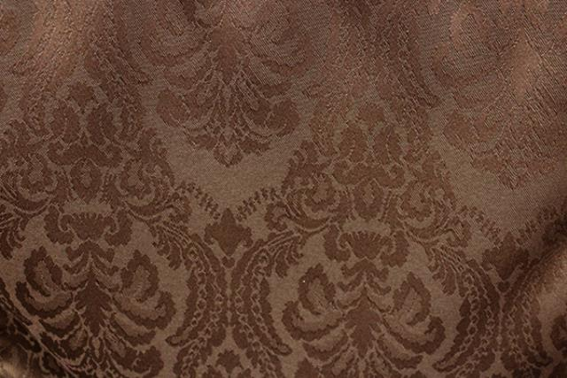 Chocolate Damask Linen
