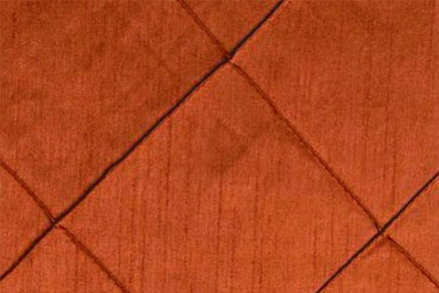 Burnt Orange Pintuck Nova Chair Tie