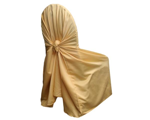 Gold-yellow Matte Satin Chair Wrap