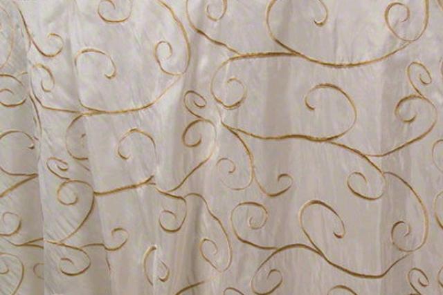 Ivory/gold Organza Swirl Chair Tie