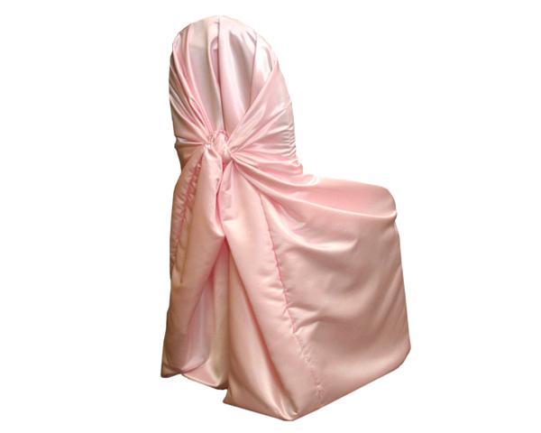 Pink Matte Satin Chair Wrap