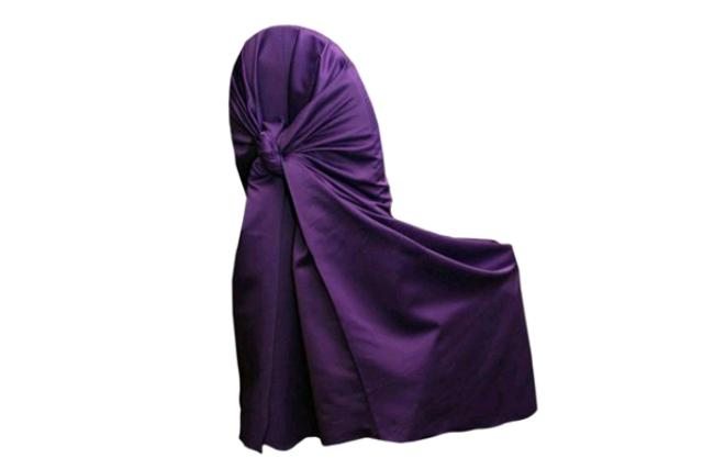 Amethyst Satin Chair Wrap