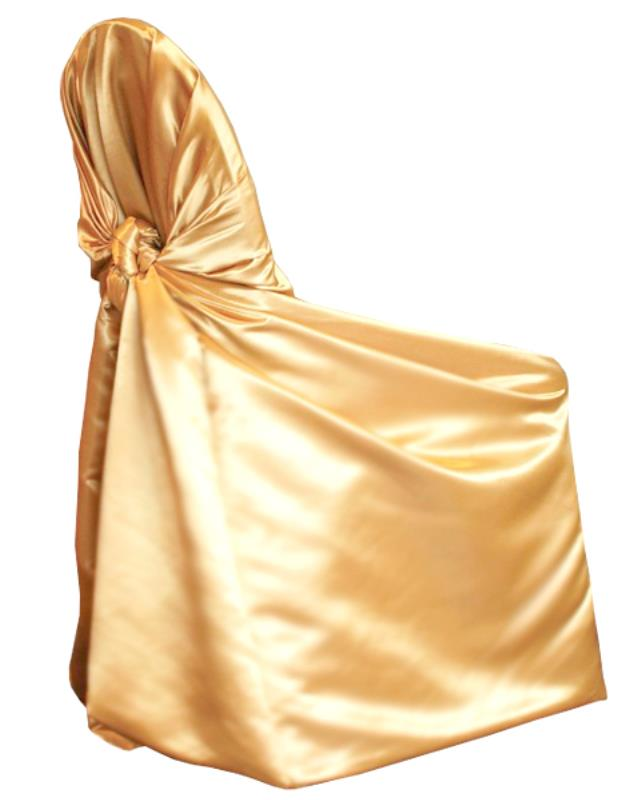 Gold Soft Satin Chair Wrap