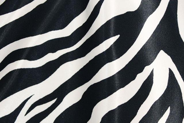 Zebra Satin Chair Tie