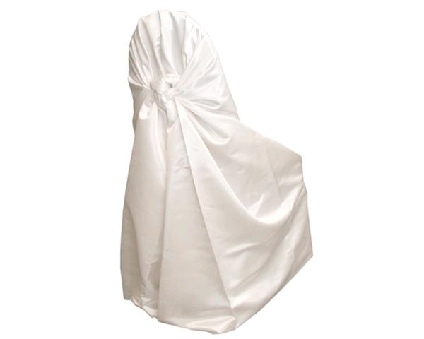 White Lamour Satin Chair Wrap