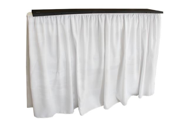 Stow-away Shirred White Bar Skirt