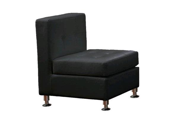 Sectional, Black Vip Straight