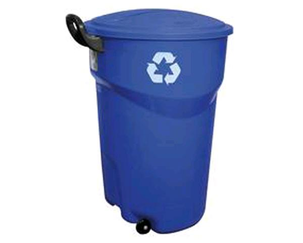 121l Blue Wheeled Recycle Bin