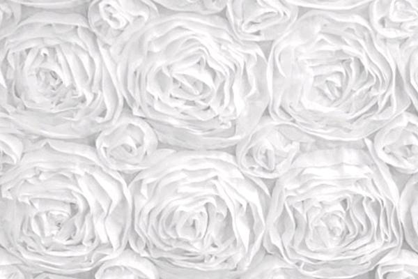 White Rosette Linen